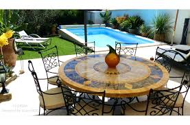 stone top patio table outdoor mosaic round table natural stone top