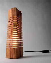 wood lighting. Minimalist Split Wood Lights And Sculptures By Grain Lighting G