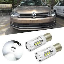 2007 Vw Jetta Daytime Running Light Bulb Details About 2x For Volkswagen Jetta Mk6 Canbus White Samsung Led Bulb Daytime Running Lights