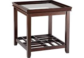rectangle end table pertaining to santos espresso tables dark wood decorations 19