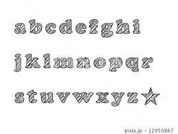 手書き風フォント Abcのイラスト素材 12950867 Pixta