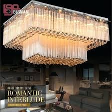 2 layers flush mount crystal chandelier led living room lights fixtures luxury lamp fast antonia 4