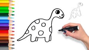 Small Picture Learn How to Draw a Dinosaur Teach Drawing for Kids and Toddlers