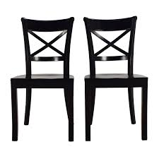 crate and barrel crate barrel vintner wooden chair pair dining chairs