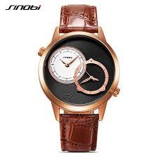 Fashion <b>Golden Men</b> Wristwatches <b>Sinobi</b> Creative 2 Quartz ...