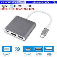 Cáp Chuyển Đổi Từ TypeC USB-C Sang USB 3.0 - HDMI - Adapter từ điện thoại -  MAC ra TV hoặc máy chiếu