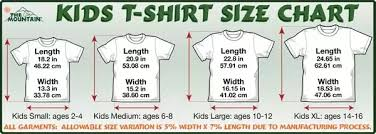 Youth Size 8 20 Chart How Do Us Boys T Shirt Sizes Translate To Mens Quora