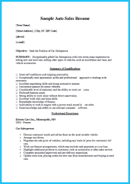 Car Salesman Resume Example Car sales resume example 97