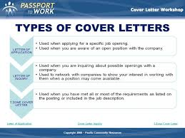 different cover letters types of cover letters magdalene project org