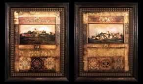 tuscany framed art unique tuscan wall art