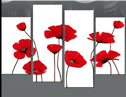 wall arts red poppies canvas wall art poppy paintings on fl clean clear and vibrant