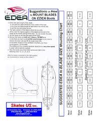 Edea Size Chart 56 Reasonable Ice Skate Shoe Size Chart