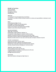 Delivery Truck Driver Resume Sample As Image File Cdl Ideas Of