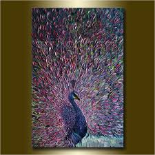 diy painting palette peacock modern oil painting textured palette knife contemporary