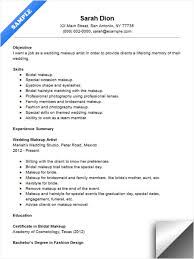 wedding makeup artist resume sle