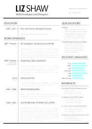 Web Format Resume Template Doc Deve Php Developer Cv Graduate