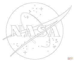 Small Picture NASA Logo coloring page Free Printable Coloring Pages