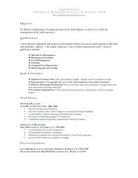 Resume Objectives For Servers Resume Objective Examples For