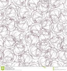 Naadloos Patroon In Roze Rozen Op Een Witte Achtergrond Behang In