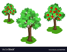 red fruits set vector image