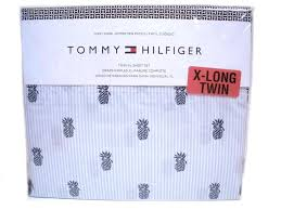 xlong twin sheet sets tommy hilfiger twin xl size sheet set tropical pineapples blue