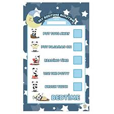 Kids Routine Chart Amazon Com Dry Erase Bedtime Routine Checklist Chart For