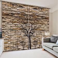 Moderne Kurze Baum Vorhänge Thicking Blackout Vorhänge Für