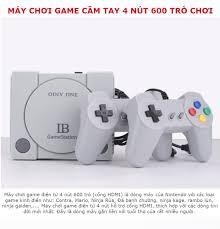 Máy chơi game điện tử 4 nút 600 trò chơi IB Gamestation,Retro Video Máy  Chơi Game Cầm Tay 4 nút Tích Hợp Cổ Điển 600 Trò Chơi (cổng kết nối AV)