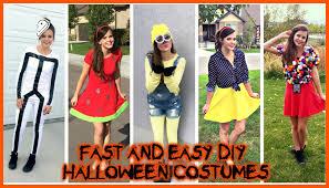 diy costumes super easy last minute ideas vlog you