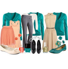 Turquoise & Teal Work Clothes For Ladies ...