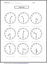 Telling Time Worksheets For 3rd Grade - Checks Worksheet