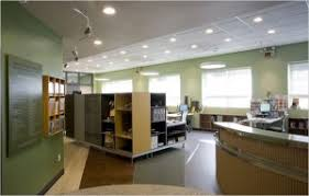 lighting in an office. office buildings require quite a bit of electricity between lighting and air conditioning bills can really add up especially during the summer when in an