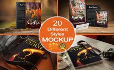 i will convert your 2d book cover into 20 unique 3d mockups