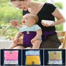 2019 baby sack seats portable high chair shoulder strap infant safety seat belt toddler feeding seat cover harness dining chair seat belt lc679 1 from