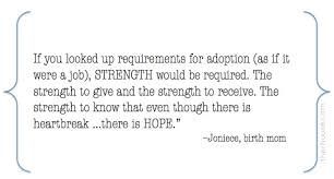 Adoption Quotes Interesting Strength Quotes Adoption Quotes Birth Mother Quotes The R House