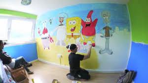 SpongeBob SquarePants - Time lapse bedroom art by David Yarnell - YouTube