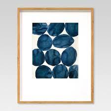 blue watercolor wall art