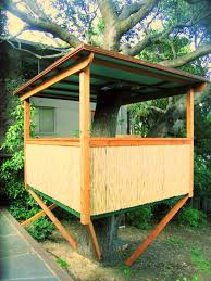 a very simple onetree treehouse for kids or a tree cabana adults house d49 kids