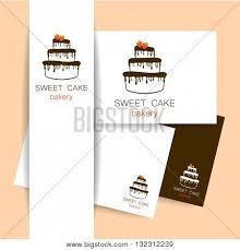Sweet Cake Bakery Shop Logo Template Identity Presentation Logo