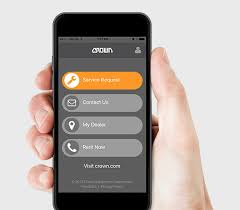 forklift repair services crown equipment crown service request app