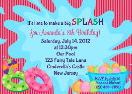 Birthday Invitation Templates Free Download Wonderful Free Pool Party Invitation Template Pool Party Birthday