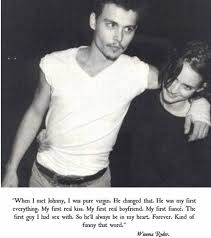 Johnny Depp Love Quotes Mesmerizing Love Quote Text Forever Johnny Depp Winona Ryder Eternal First Love