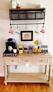 Under Cabinet Shelf Kitchen Small Coffee Station Table With Drawer And Storage Plus Hanging