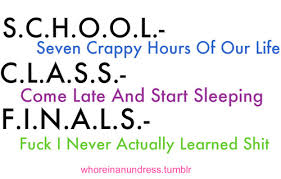 Funny Quotes About School. QuotesGram via Relatably.com