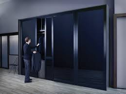 unique black glass sliding closet doors soytzon