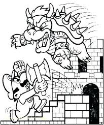 Free Mario Colouring Pages Cart Coloring Pages Super Bros Coloring