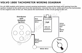 wiring diagram for volvo 1800 tachometer and hot spark electronic ignition