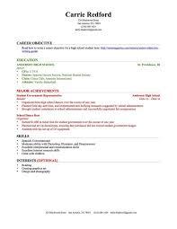 Teenage Resume Template Simple High School Resumes For College Dadajius