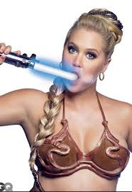 Amy Schumer Has a Threesome with R2 D2 and C 3PO for Star Wars.