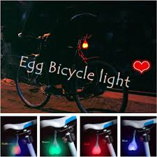 Back Seat Light Us 2 72 36 Off Bike Light Silicone Bike Egg Lamp Night Cycling Rear Seat Back Lights Creative Bicycle Light Safety Warning Ball Light Lamp In